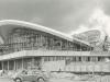 fertig gestellte Randbögen - Arbeiten an der Fassade