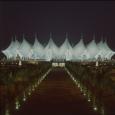 Das König-Fahd-Stadion bei Nacht