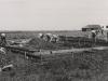 Bau der Fundamente des Hauses des leitenden Ingenieures der U.T.E.