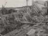 Baugrube II - Betonierungsarbeiten an der Sperre von Oberwasser gesehen.