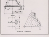 Schnitt durch einen NOETZLI-Normalpfeiler. Unbewehrter Rundkopf mit 12,50 Breite und ist mit den Nachbarrundköpfen lediglich durch eine 2 mm starke Kupfer-Blech-Dichtung verbunden.
