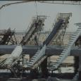 Betonieren der unteren Kragarme der Tribünentragbalkenpaare