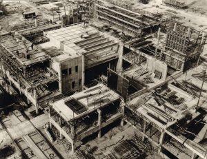 Bildbescheibung: Luftbild des Rohbauzustandens