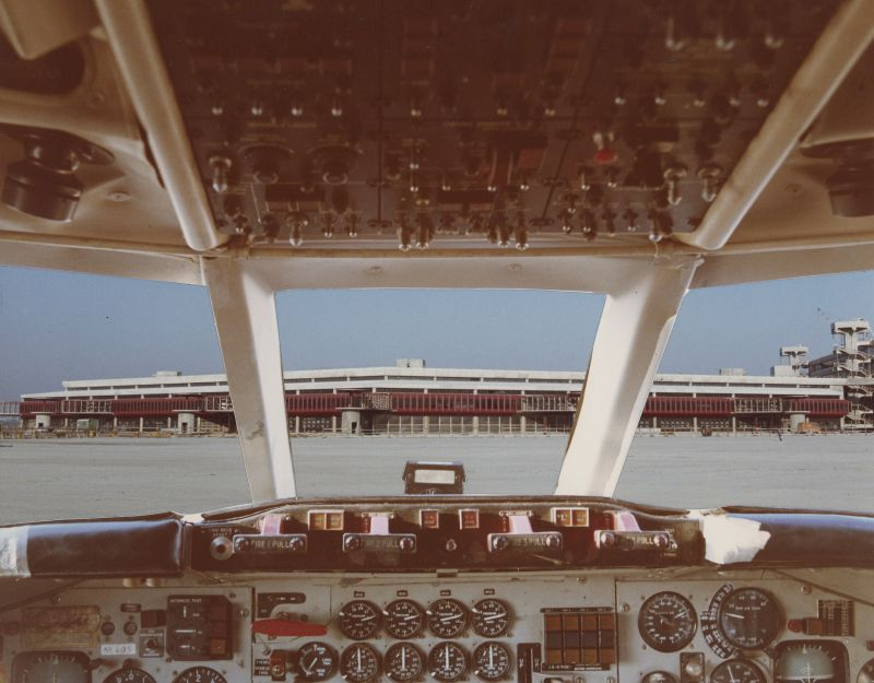 Bau des Flugsteigrings West am Flughafen Tegel 1973 (BBWA U5/3/1973_02_05-07)